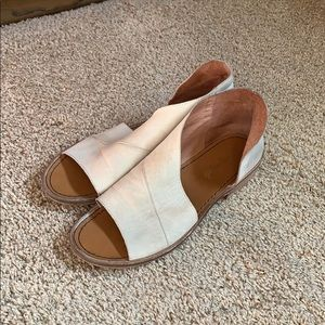 Free people Mont Blanc grey leather flats, size 38